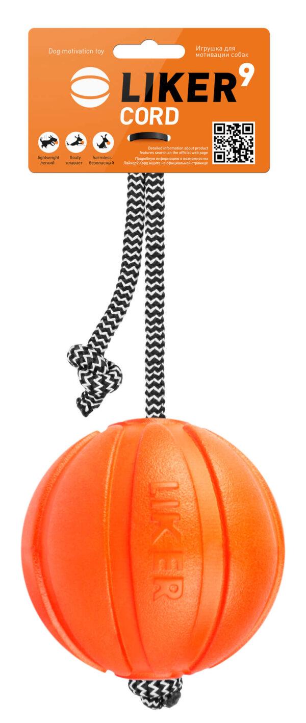 כדור עם חוט לעידוד משחק לכלבים מגזעים גדולים - LIKER 9 Cord 2