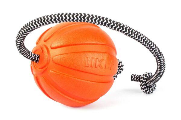 כדור עם חוט לעידוד משחק לכלבים מגזעים גדולים - LIKER 9 Cord