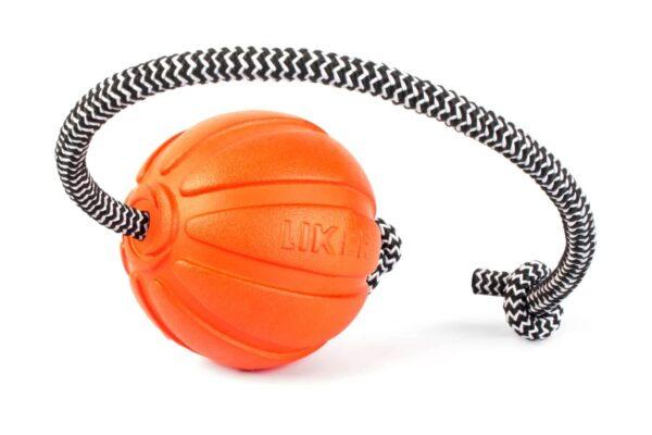 כדור עם חוט לעידוד משחק לכלבים מגזעים קטנים - LIKER 5 Cord