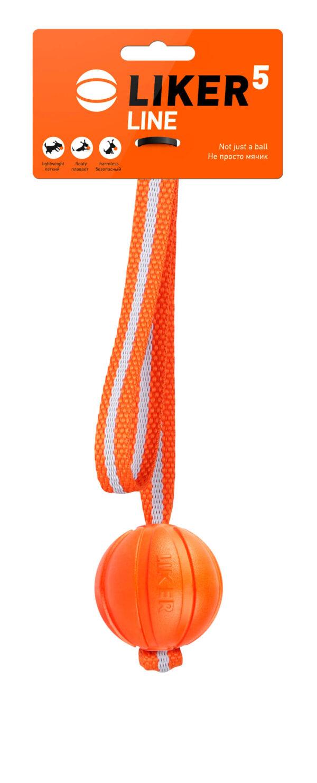 כדור עם רצועה לעידוד משחק לכלבים מגזעים בינוניים - LIKER Line 5 - 1