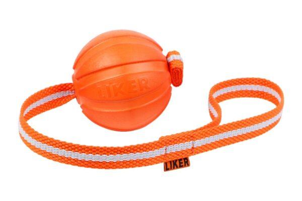 כדור עם רצועה לעידוד משחק לכלבים מגזעים בינוניים - LIKER Line 7