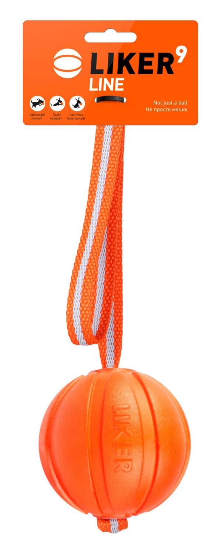 כדור עם רצועה לעידוד משחק לכלבים מגזעים בינוניים - LIKER Line 9 - 1