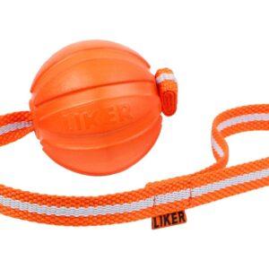 כדור עם רצועה לעידוד משחק לכלבים מגזעים בינוניים - LIKER Line 9