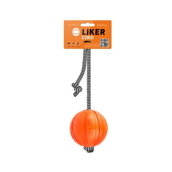 LIKER Cord 7 - כדור עם חוט לעידוד משחק לכלבים מגזעים בינוניים - 1