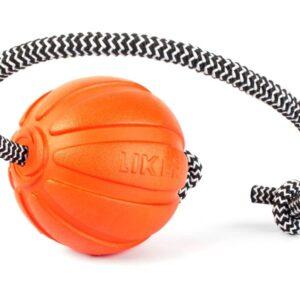 LIKER Cord 7 - כדור עם חוט לעידוד משחק לכלבים מגזעים בינוניים