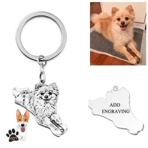 מחזיק מפתחות בעיצוב אישי של הכלב שלכם